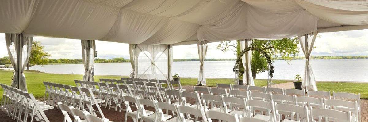 Coastal Wedding Tent Rental